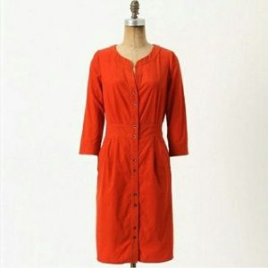Anthropologie Maeve Corduroy Dress -6